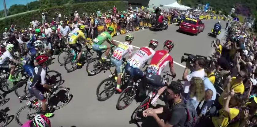 Видеокамеры на велосипедах. Тур де Франс-2016, 16 этап