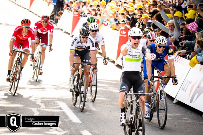 Марк Кэвендиш - первый обладатель желтой майки лидера на Тур де Франс-2016