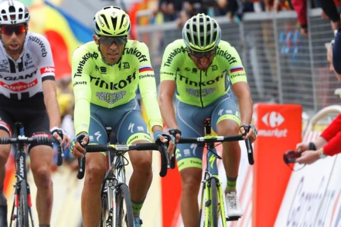 Альберто Контадор и Ричи Порт теряют время на 2 этапе Тур де Франс-2016