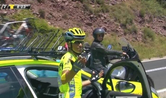 Альберто Контадор прекращает борьбу на Тур де Франс-2016