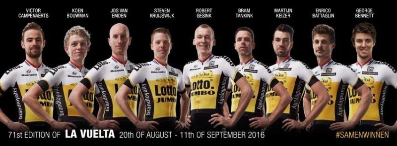 Стевен Крёйсвейк - капитан команды LottoNL-Jumbo на Вуэльту Испании-2016