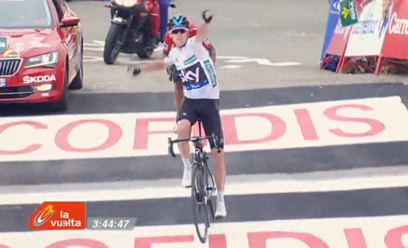Крис Фрум - победитель 11-го этапа Вуэльты Испании-2016