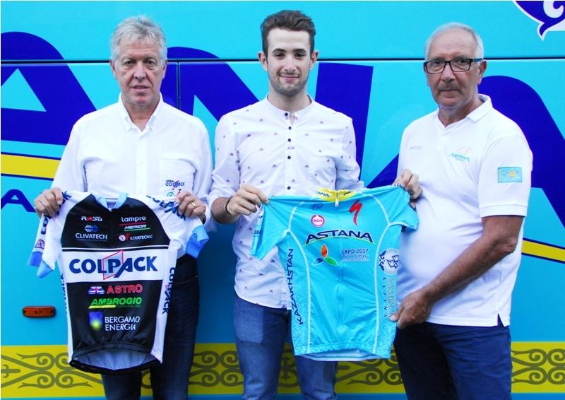 Велокоманда «Астана» подписала молодого итальянского гонщика Рикардо Минали