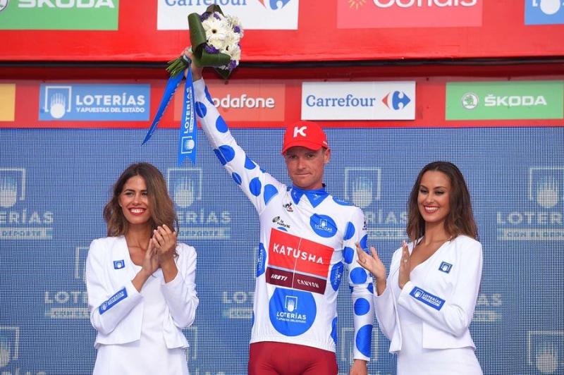 Сергей Лагутин – третий на 13-м этапе, вновь надевает горную майку