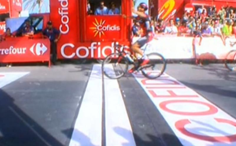 Жан-Пьер Друкер (BMC) - победитель 16-го этапа Вуэльты Испании-2016