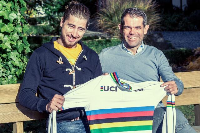 Петер Саган и Ральф Денк, менеджер команды Bora-Hansgrohe