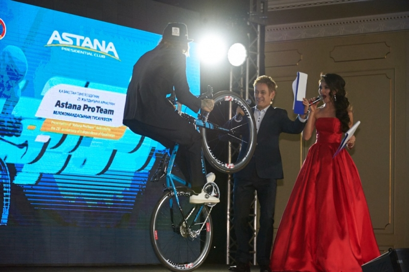Фотогалерея: презентация велокоманды Astana на 2017 год