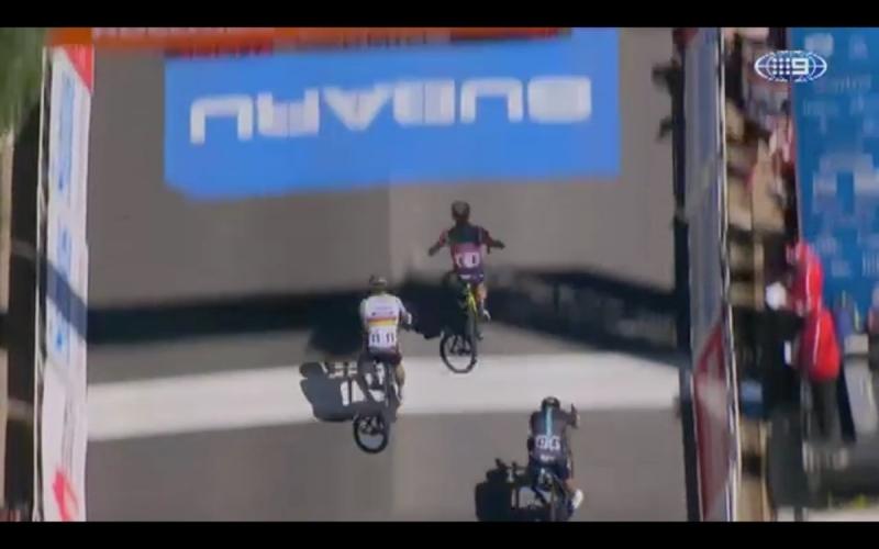 Калеб Юэн  - победитель 4-го этапа Тура Даун Андер-2017