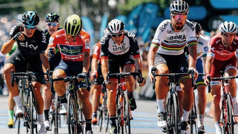 Калеб Юэн, Петер Саган и Данни Ван Поппель о 4-м этапе Тура Даун Андер-2017