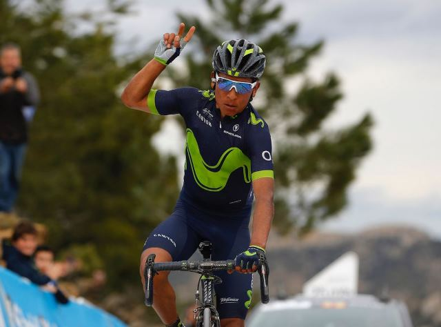 Наиро Кинтана побеждает на 4-м этапе Вуэльты Валенсии-2017 в день своего рождения