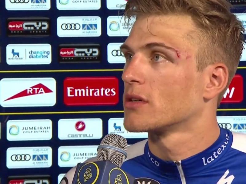 Андрей Гривко снят с Тура Дубая за удар в лицо лидеру гонки