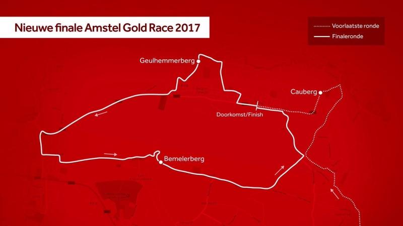 Амстел Голд Рэйс-2017 без подъёма Кауберг на финише