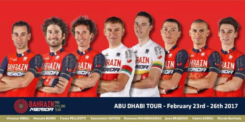 Состав команды Bahrain-Merida на Тур Абу-Даби-2017