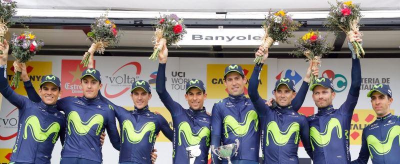 Алехандро Вальверде, Роан Деннис и Тиджей Ван Гардерен о 2-м этапе Вуэльты Каталонии-2017