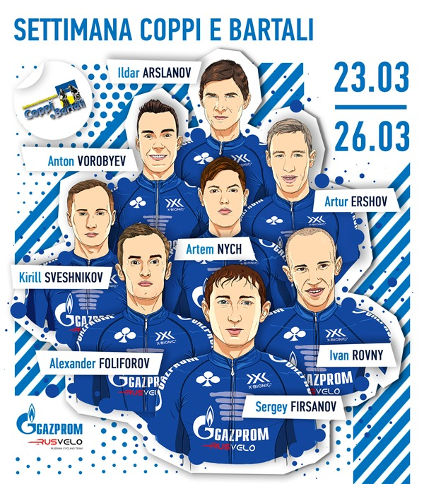 Gazprom – RusVelo планирует защитить титул на Settimana Coppi e Bartali