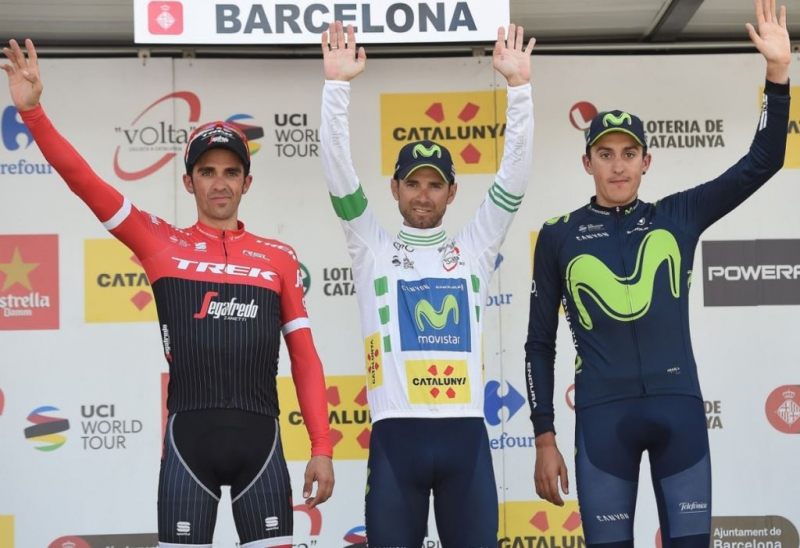 Алехандро Вальверде, Альберто Контадор  и Марк Солер о Вуэльте Каталонии-2017