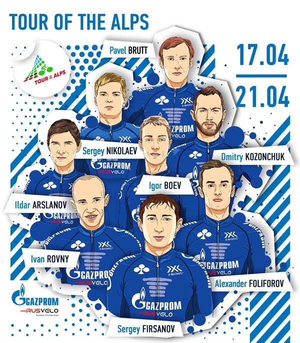 Gazprom – RusVelo проверит силы на генеральной репетиции перед «Джиро д'Италия»
