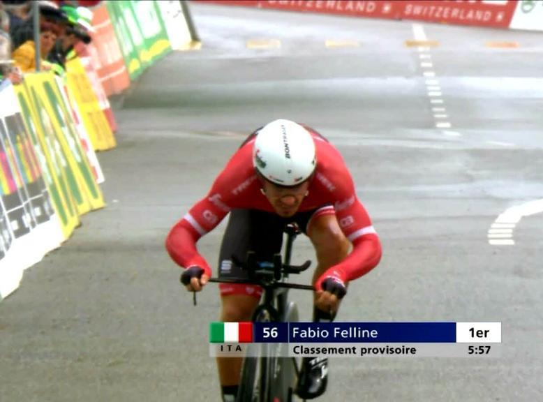 Фабио Феллине выиграл пролог Тура Романдии-2017, опередив Алекса Даусетта