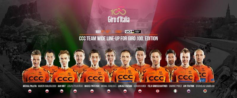 Состав команды CCC Sprandi Polkowice на Джиро д'Италия-2017