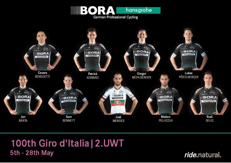Состав команды BORA – hansgrohe на Джиро д'Италия-2017