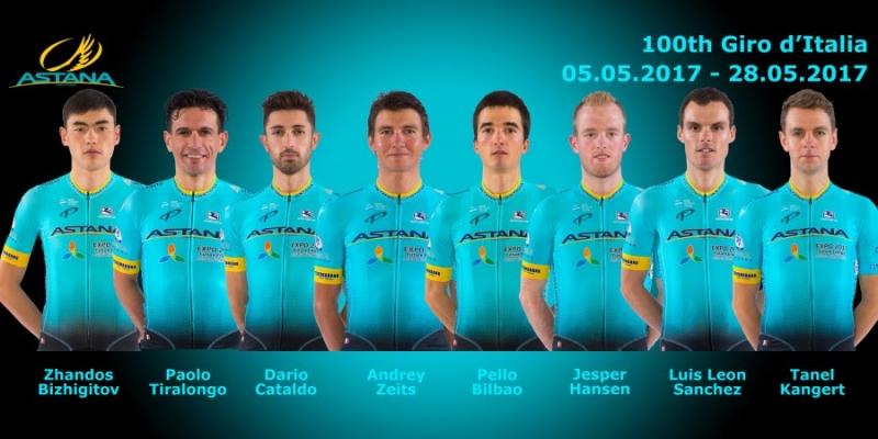 Команда «Астана» не будет заменять Микеле Скарпони, в составе на «Джиро д'Италия» будет 8 гонщиков