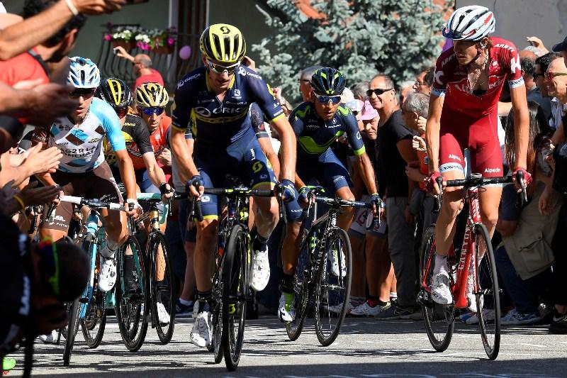 Наиро Кинтана, Винченцо Нибали, Тибо Пино, Бауке Моллема о 14-м этапе Джиро д'Италия-2017