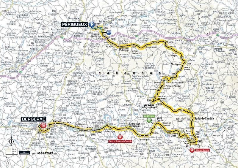 Тур де Франс-2017. Альтиметрия маршрута - 10 этап