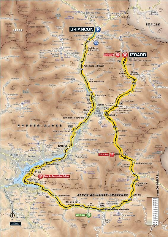 Тур де Франс-2017. Альтиметрия маршрута - 18 этап