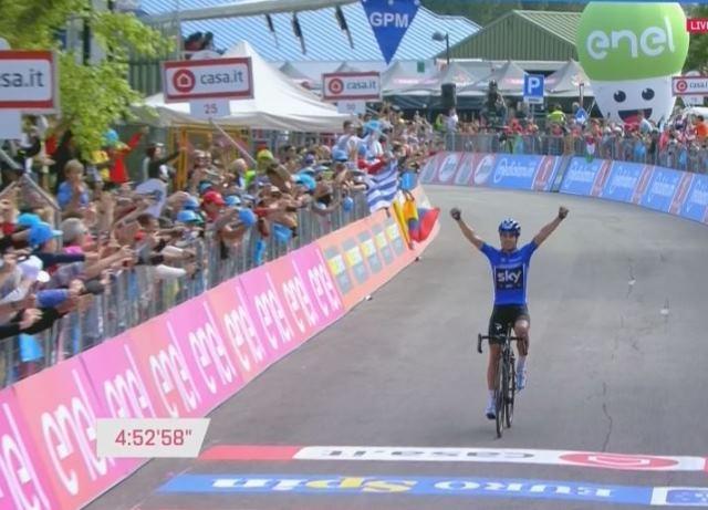 Микель Ланда – победитель 19 этапа Джиро д'Италия-2017