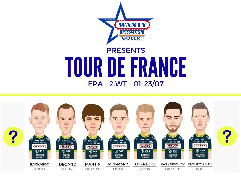Команда Wanty-Groupe Gobert объявила имена 7 велогонщиков - участников Тур де Франс-2017
