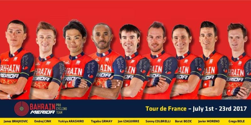 Состав команды Bahrain-Merida на Тур де Франс-2017