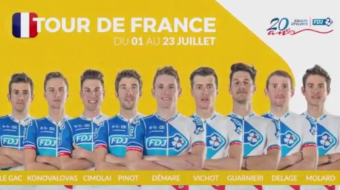 Состав команды FDJ на Тур де Франс-2017
