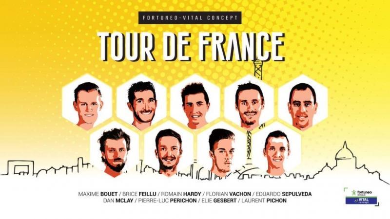 Состав команды Fortuneo - Vital Concept на Тур де Франс-2017