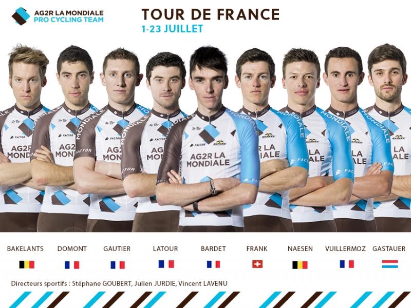 Состав команды AG2R La Mondiale на Тур де Франс-2017