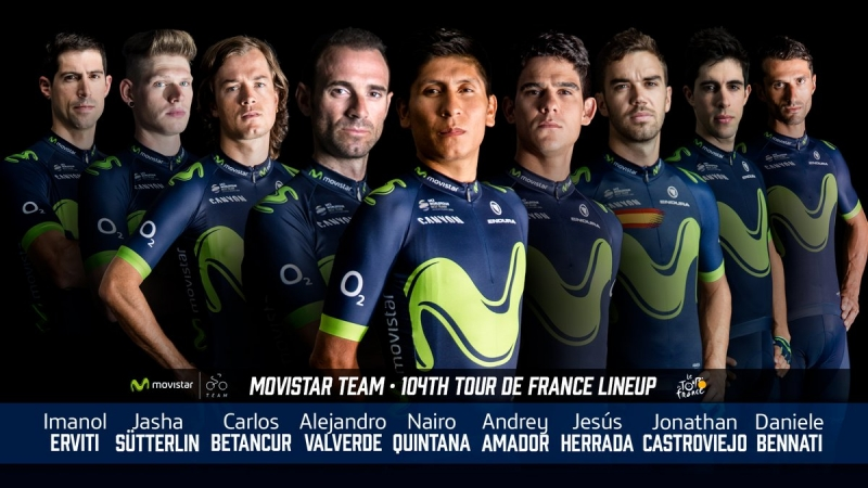 Состав команды Movistar на Тур де Франс-2017