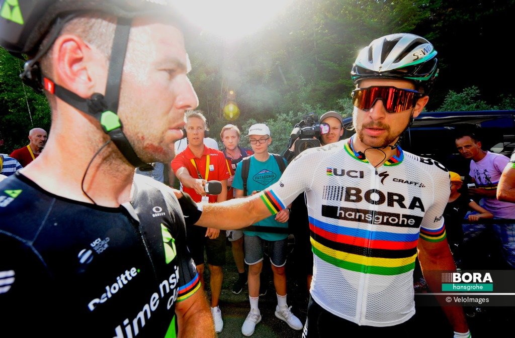 Протест команды Bora-Hansgrohe против снятия Петера Сагана с Тур де Франс-2017