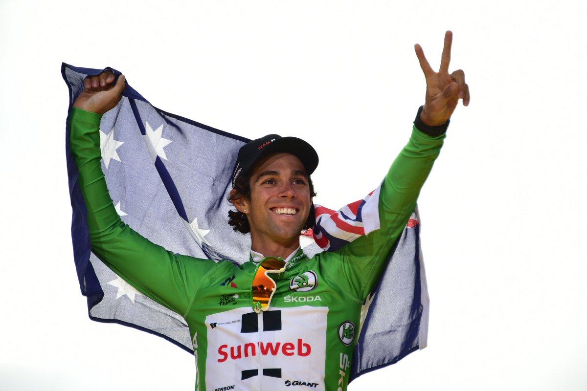 Майкл Мэттьюс, зеленая майка Тур де Франс-2017