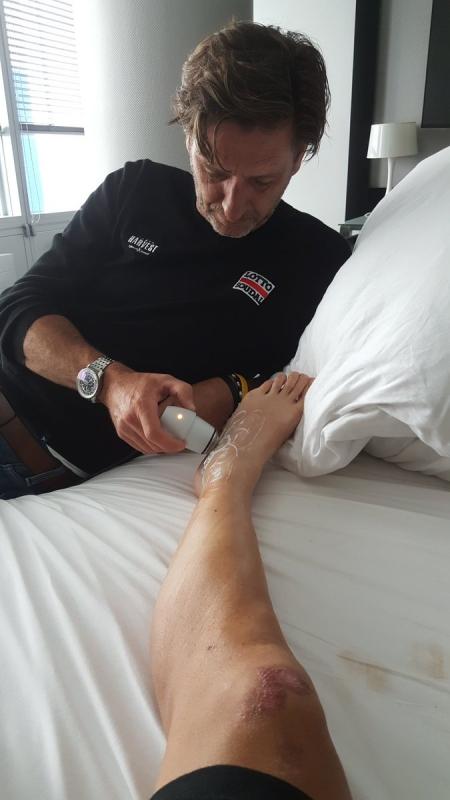Травмы Алехандро Вальверде, Йона Исагирре и Люка Дабриджа по итогам 1 этапа Тур де Франс-2017