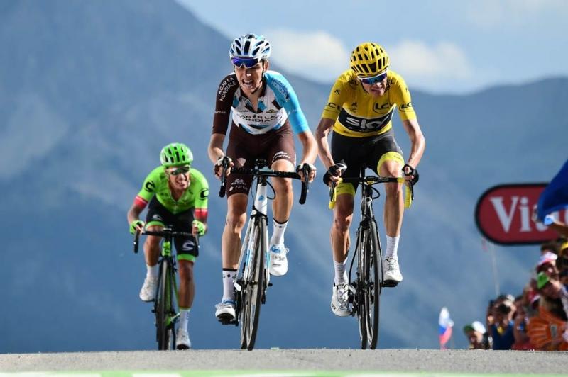 Варран Баргий, Крис Фрум, Роман Барде, Ригоберто Уран, Дэн Мартин, Фабио Ару, Альберто Контадор о 18-м этапе Тур де Франс-2017