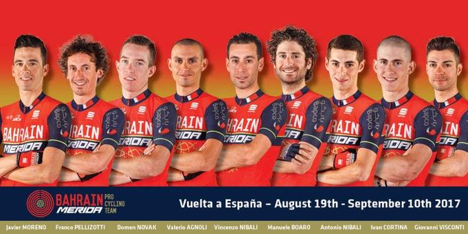 Состав команды Bahrain-Merida на Вуэльту Испании-2017