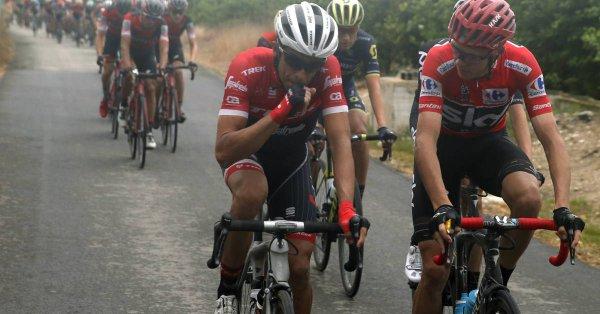 Николас Роч, Крис Фрум и Альберто Контадор о 10-м этапе Вуэльты Испании-2017