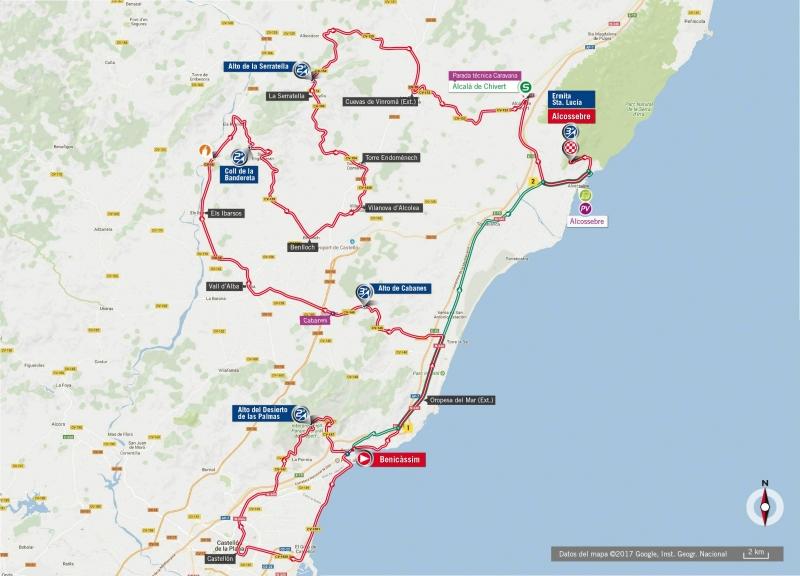 Вуэльта Испании-2017, превью этапов: 5 этап, Беникассим – Алькосебре, 175,7 км