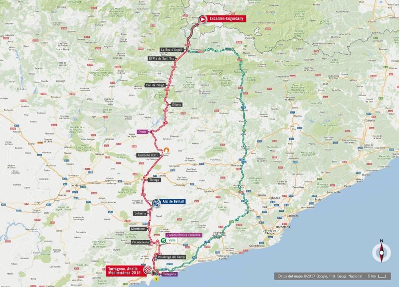 Вуэльта Испании-2017, превью этапов: 4 этап, Эскальдес-Энгордань (Андорра) - Таррагона (Испания), , 198,2 км
