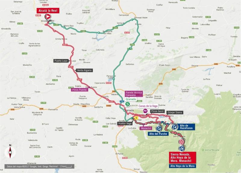 Вуэльта Испании-2017, превью этапов: 15 этап, Алькала ла Реаль – Сьерра-Невада, 129,4 км