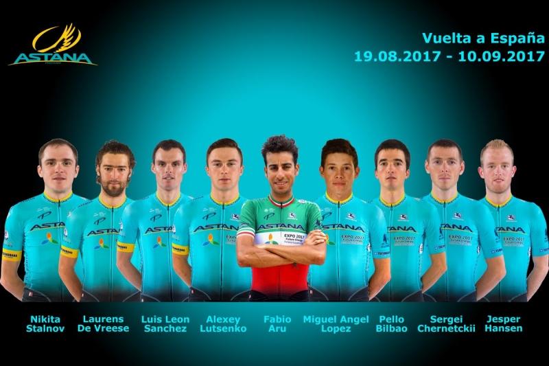 Состав команды Astana на Вуэльту Испании-2017