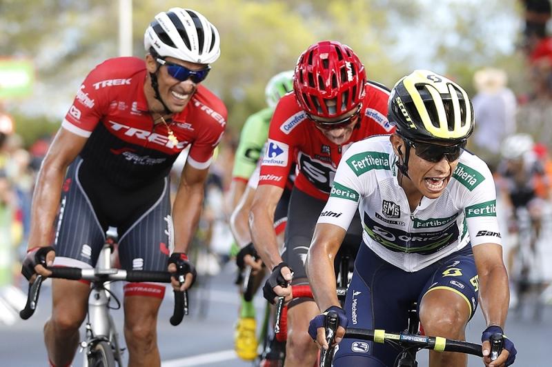 Крис Фрум, Альберто Контадор, Эстебан Чавес о 5-м этапе Вуэльты Испании-2017