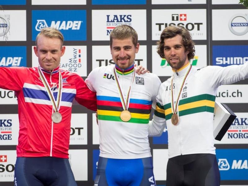 Петер Саган— трехкратный чемпион мира!