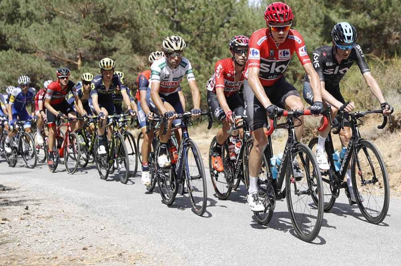 Крис Фрум, Ильнур Закарин, Эстебан Чавес о 15-м этапе Вуэльты Испании-2017