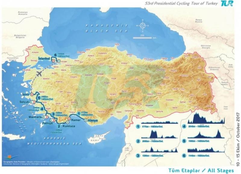 Тур Турции-2017. Маршрут