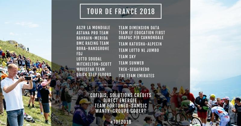 Приглашения на Тур де Франс-2018